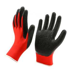 Cotton Crinkle Latex Coated Labor Work Protection Gloves