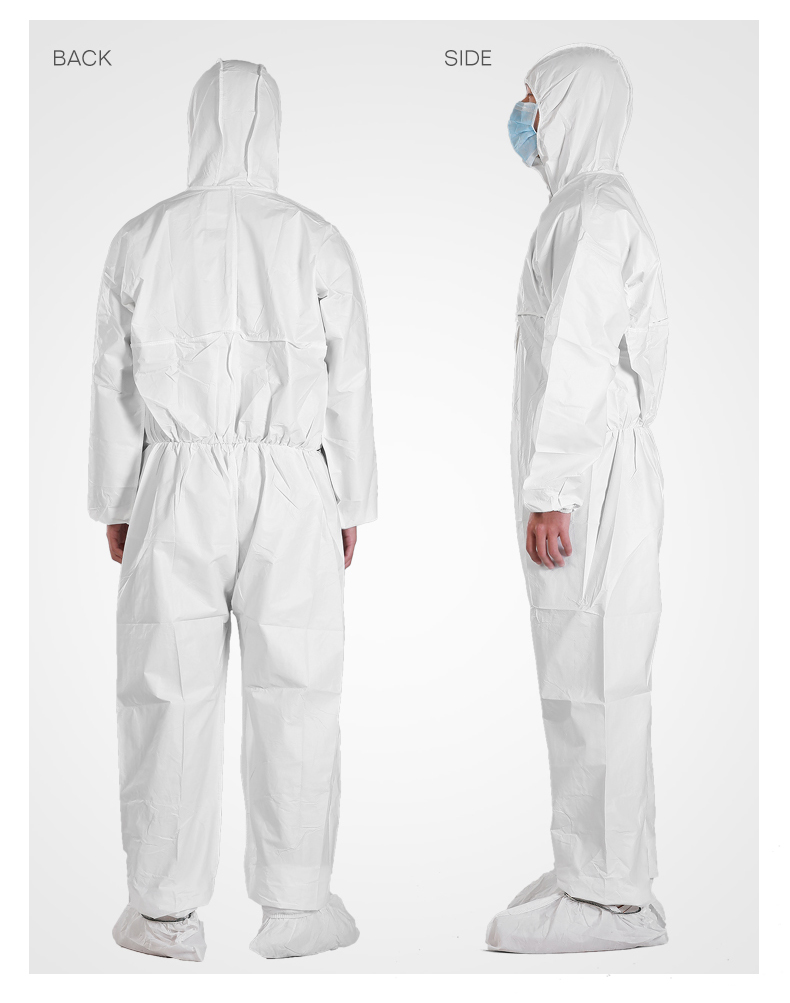 Breathable Chemical Protective Disposable Coverall Suit