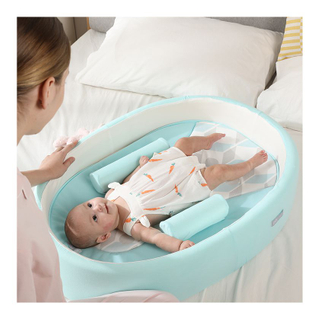 Mini Round Baby Crib Convertible Bed With Mattress