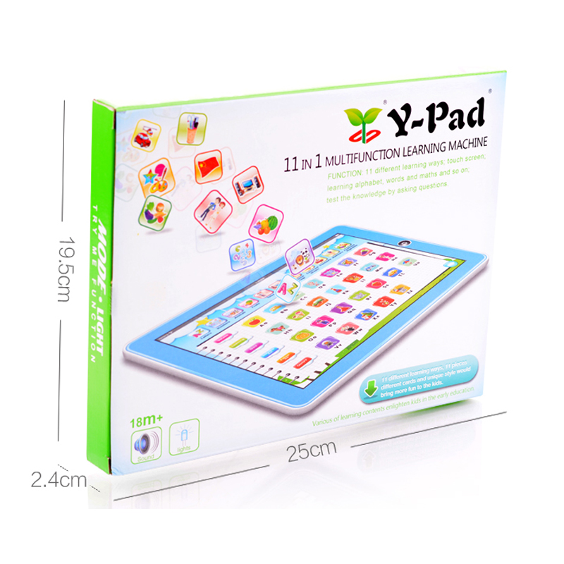 Electric Kids Laptop Preshool Educational Toys With Cards
